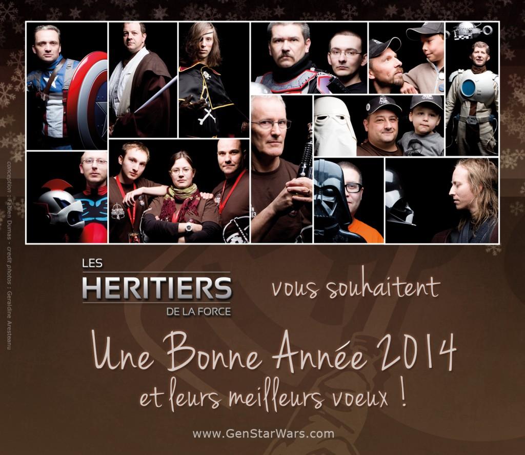Carte de voeux Héritiers de la Force 2014