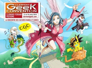 Affiche CGC Clermont Geek Convention 2018